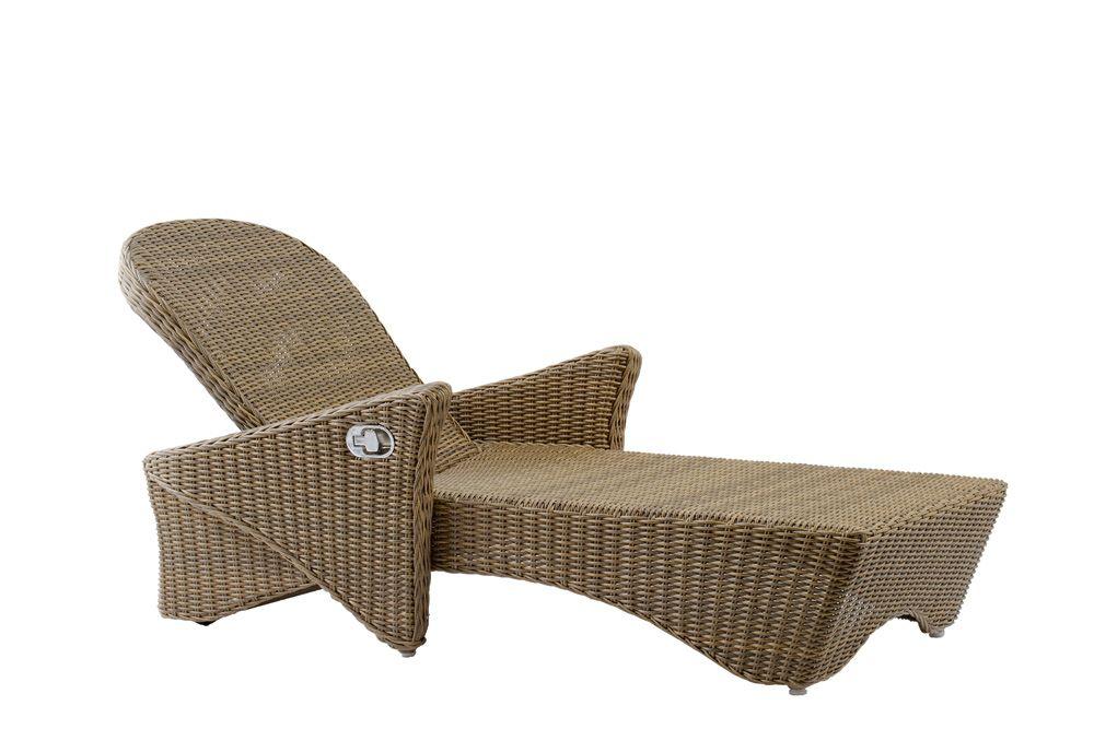 ROMANO Liegestuhl mit Armlehnen Geflecht 5mm summer grass