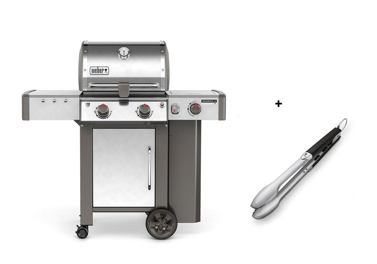 Pince Weber weber genesis ii lx s-240 gbs, acier spécial + pince | barbecues au
