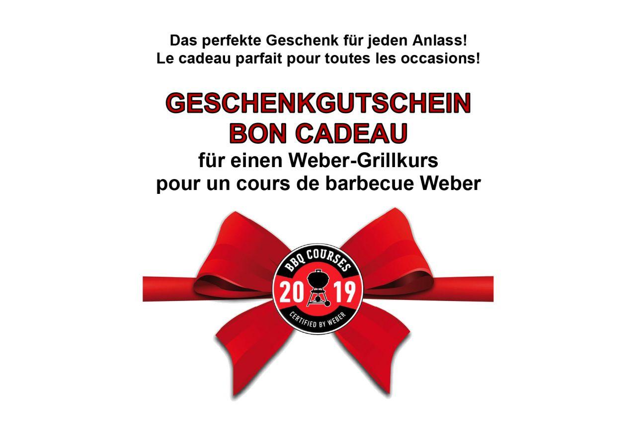Geschenkgutschein Weber Grillkurs 2019
