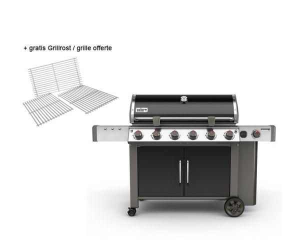 Weber Genesis II LX E-640 GBS, Black + gratis Grillrost