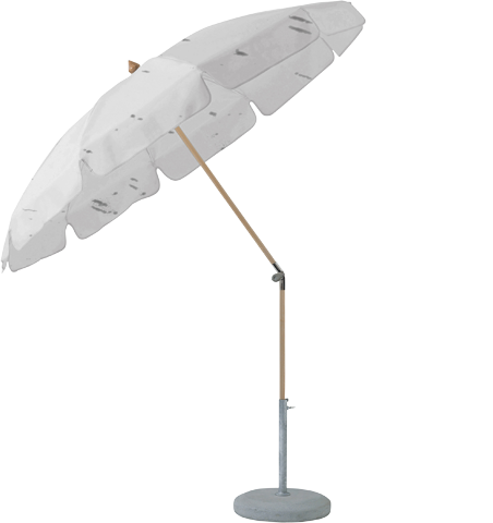 Glatz Sonnenschirm ALEXO, mit Volant, Ø 220cm