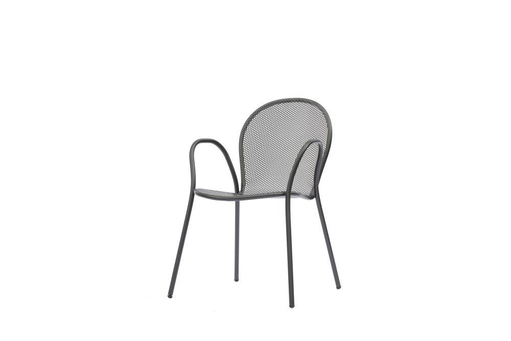 RONDOLINO Gartenstuhl mit Armlehnen antikeisen | Gartenstühle | Hunn ...