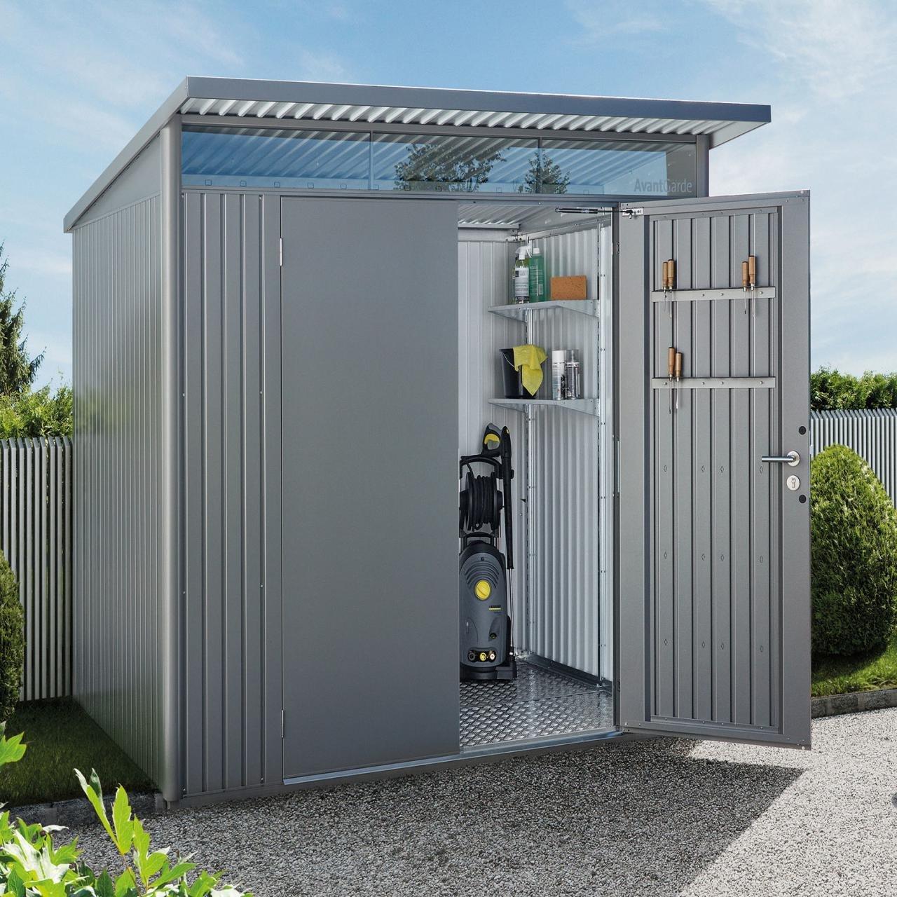 abri de jardin biohort avantgarde avec porte standard. Black Bedroom Furniture Sets. Home Design Ideas