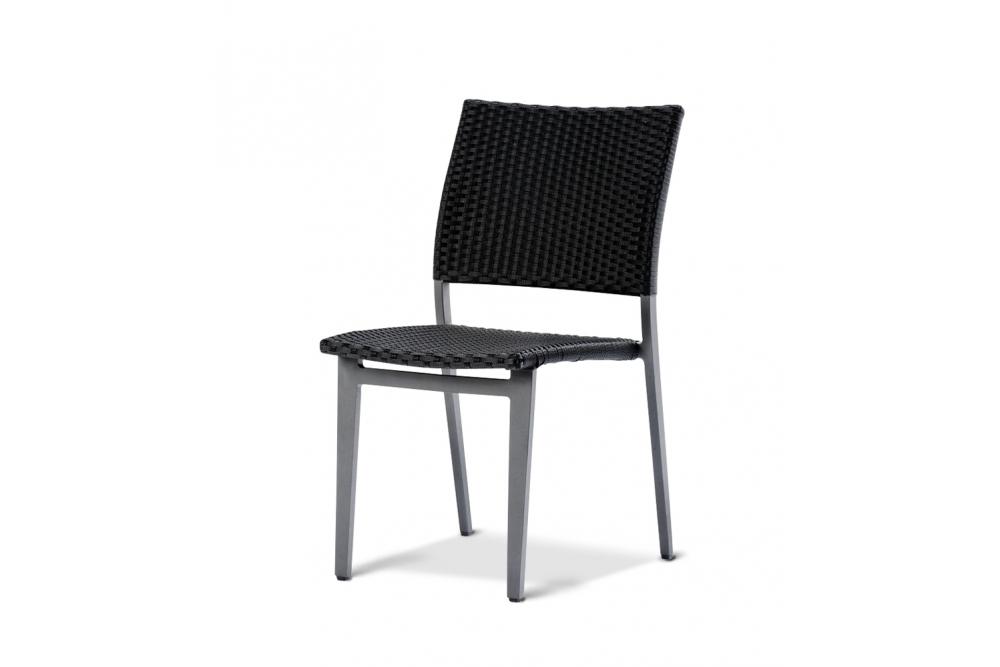berlin gartenstuhl ohne armlehnen anthrazit geflecht gartenst hle hunn gartenm bel. Black Bedroom Furniture Sets. Home Design Ideas