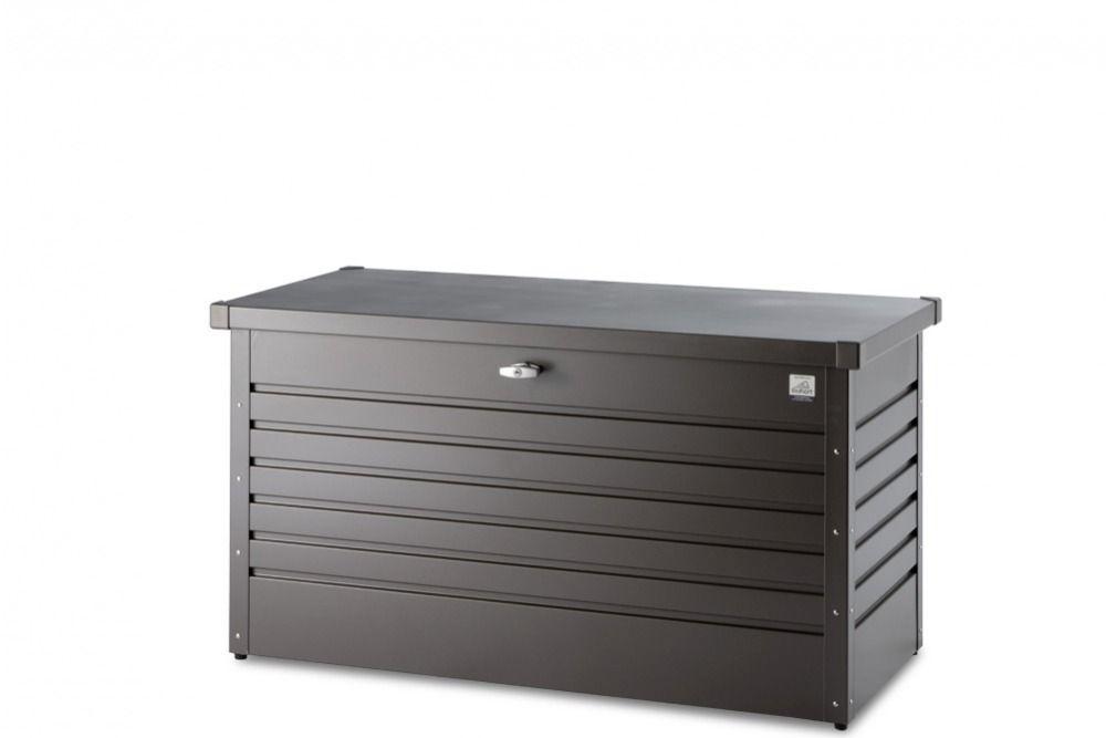 Kissenbox dunkelgrau metallic