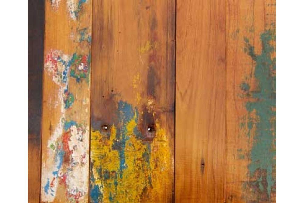 ANTIK-TEAK BOOTSHOLZ Gartentischplatte farbig 3 cm massiv Grösse ...