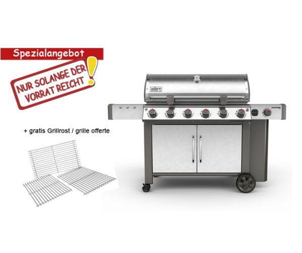 Weber Genesis II LX S-640 GBS, Edelstahl + gratis Grillrost