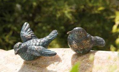 Bronzefigur | Vogelpaar, klein