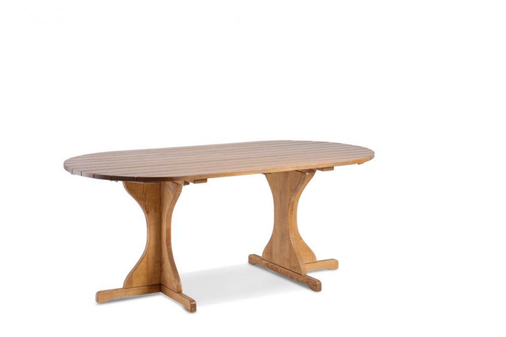 EXCELLENT Gartentisch braun Grösse: 180x100 oval | Massivholz ...