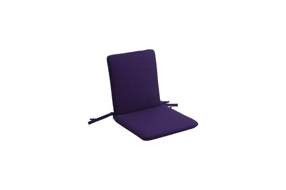 Gartenbank-/Gartenstuhlkissen Niederlehner Dupione violett